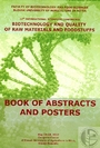 Book of abstracts and posters of the 12th international scientific conference Biotechnology and quality of raw materials and foodstuffs
